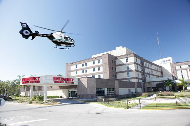 Blake Medical Center Trauma Helicopter